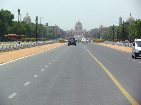 インド大統領官邸に向けて延びるラージ・パト